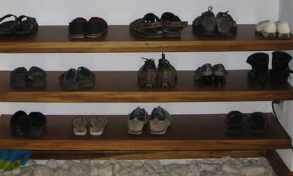Shoe Rack in Entryway